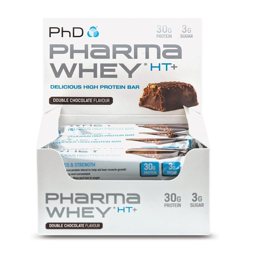 PhD Pharma Whey HT+ bars - 12 x 75g Double Chocolate