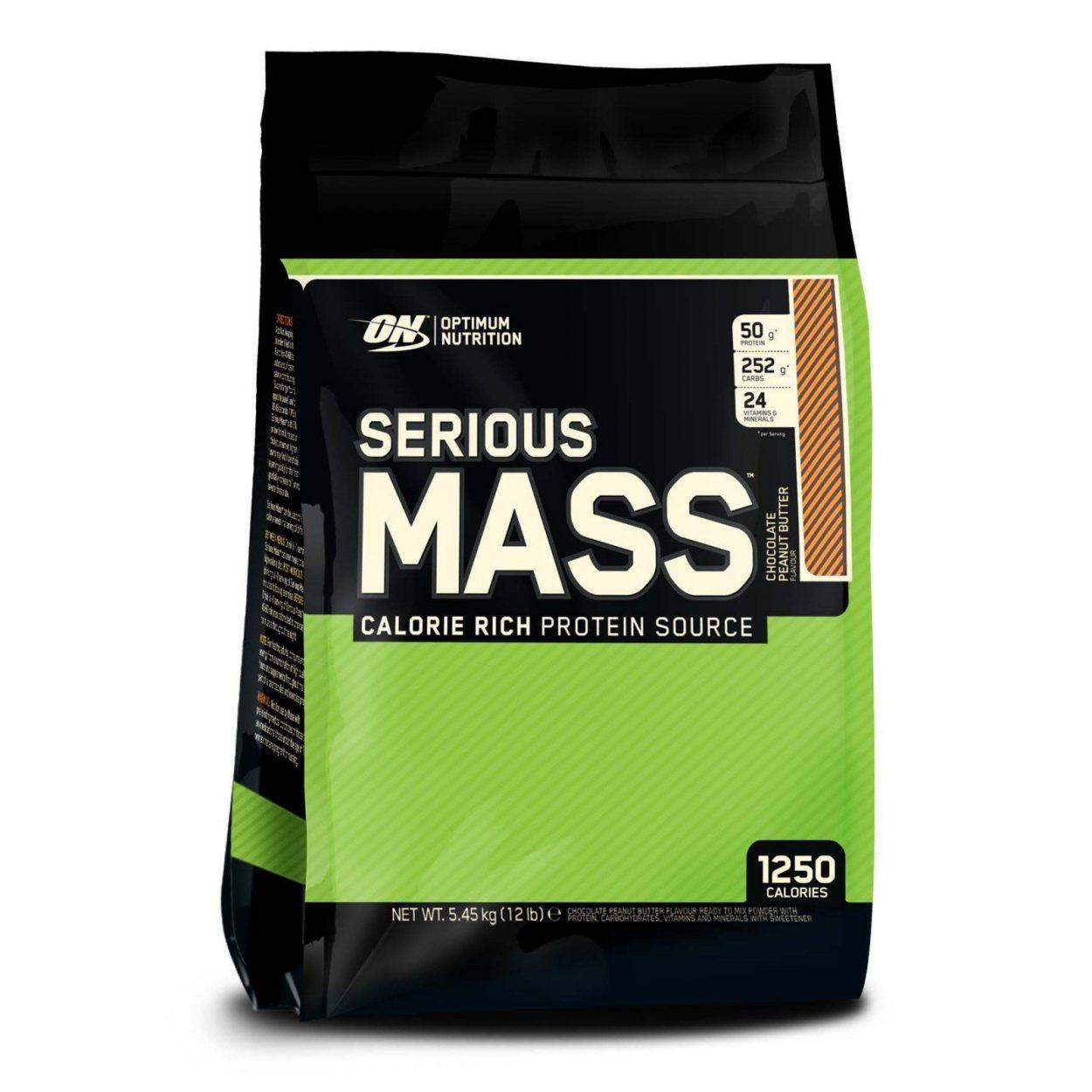Optimum Nutrition Serious Mass Weight Gain - 5.45kg - Chocolate Peanut Butter