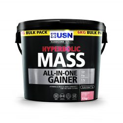 USN Hyperbolic Mass All In One Weight Gainer 6kg - Strawberry