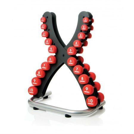 Escape Polyurethane Dumbbell Set 1-10kg (Red) & X-Rack