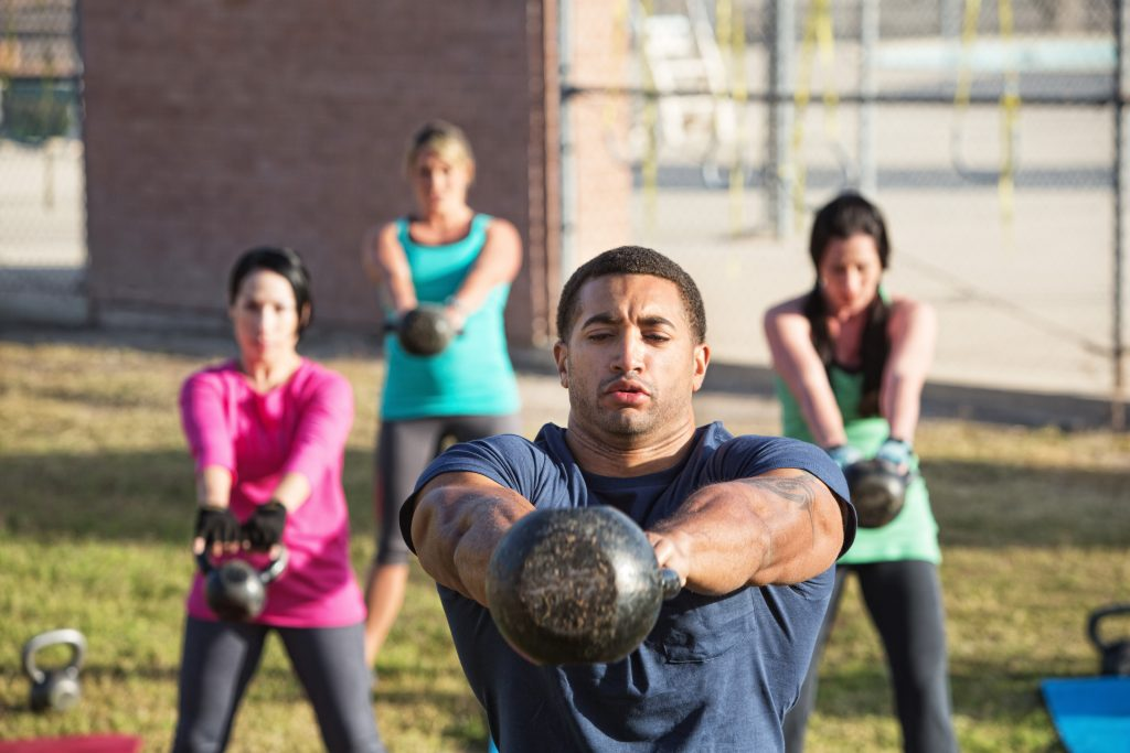 Kettlebell Workout Outside