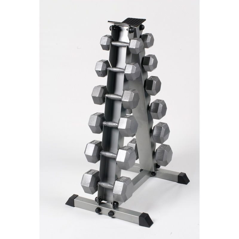 Hex Dumbbell Set with Rack by Body Power 5-17.5Kg