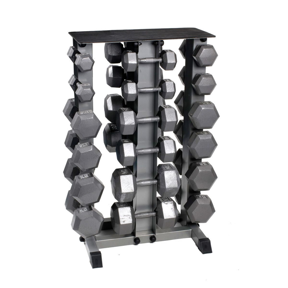 Hex Dumbbell Set With Rack by Body Power