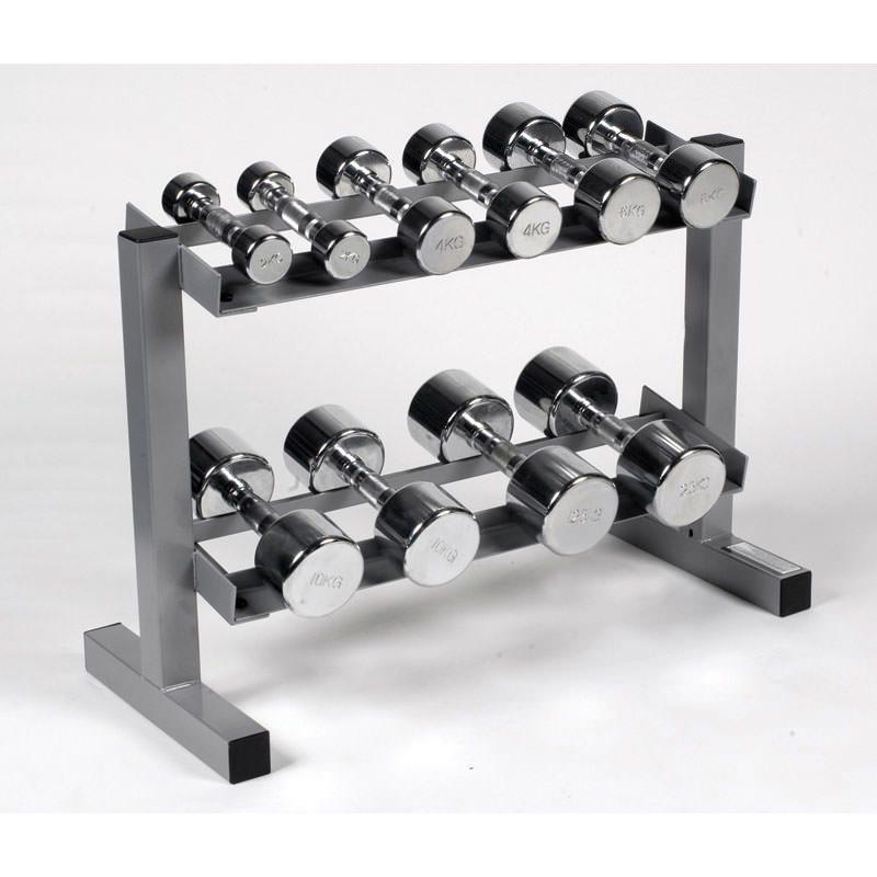 Dumbbell Set With Rack Uk: Body Power Ergo Chrome Dumbbells & Rack
