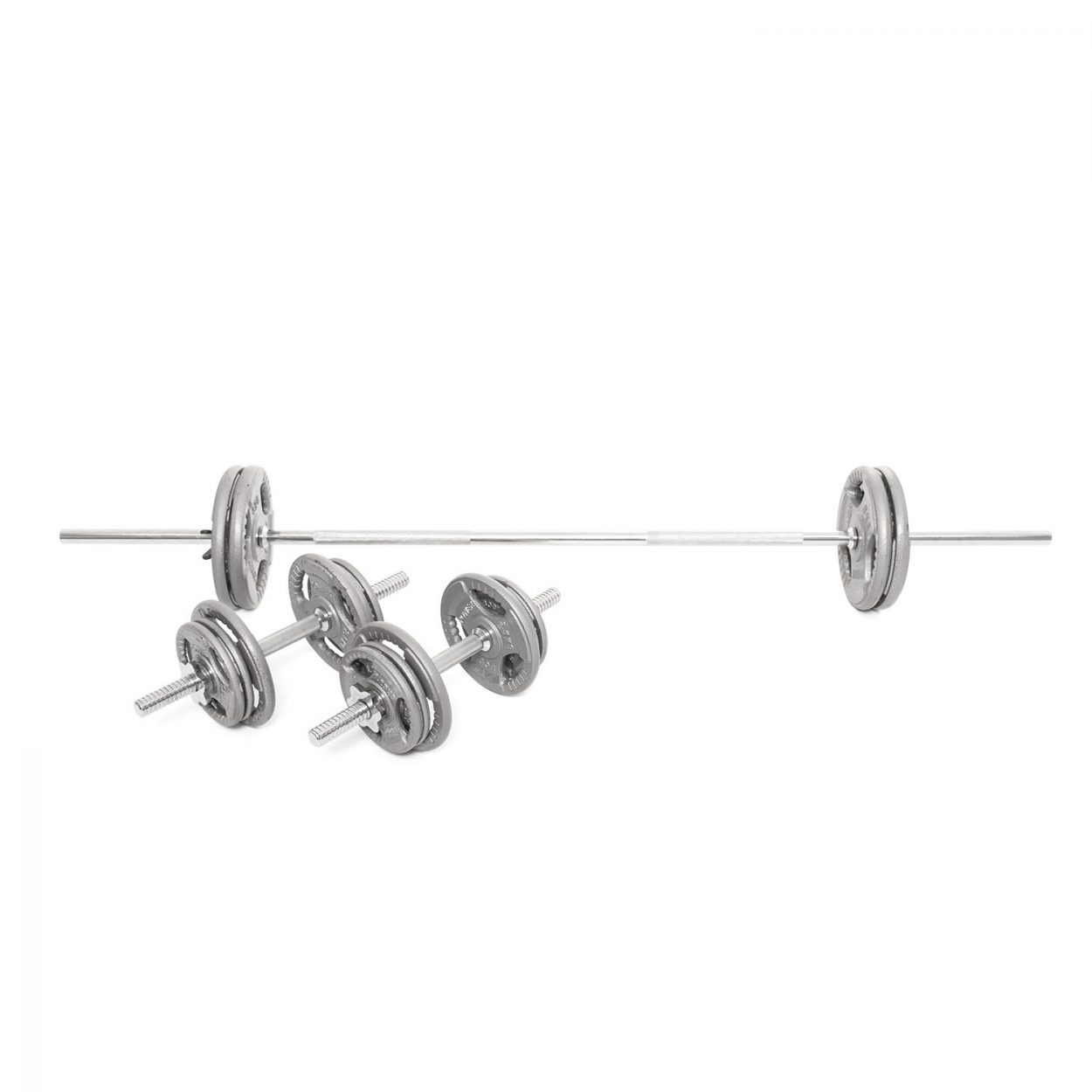 Body Power 51Kg 6FT Tri-Grip Combi Standard Weight Set