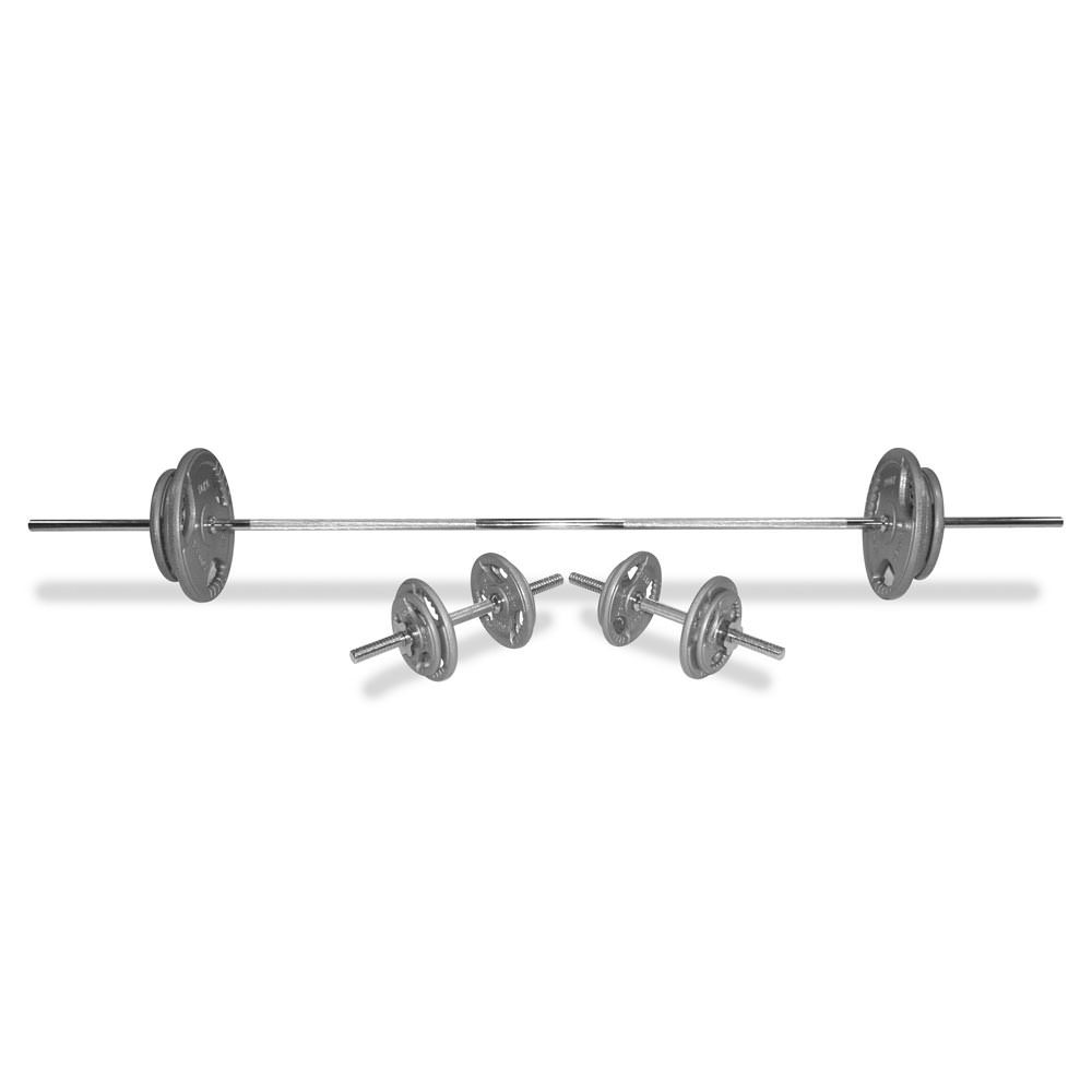 Body Power 70Kg 5FT Tri-Grip Combi Standard Weight Set