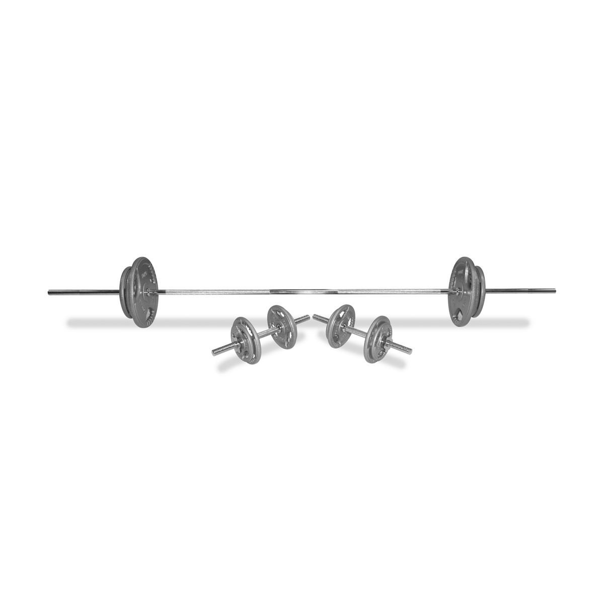 Body Power 71Kg 6FT Tri-Grip Combi Standard Weight Set