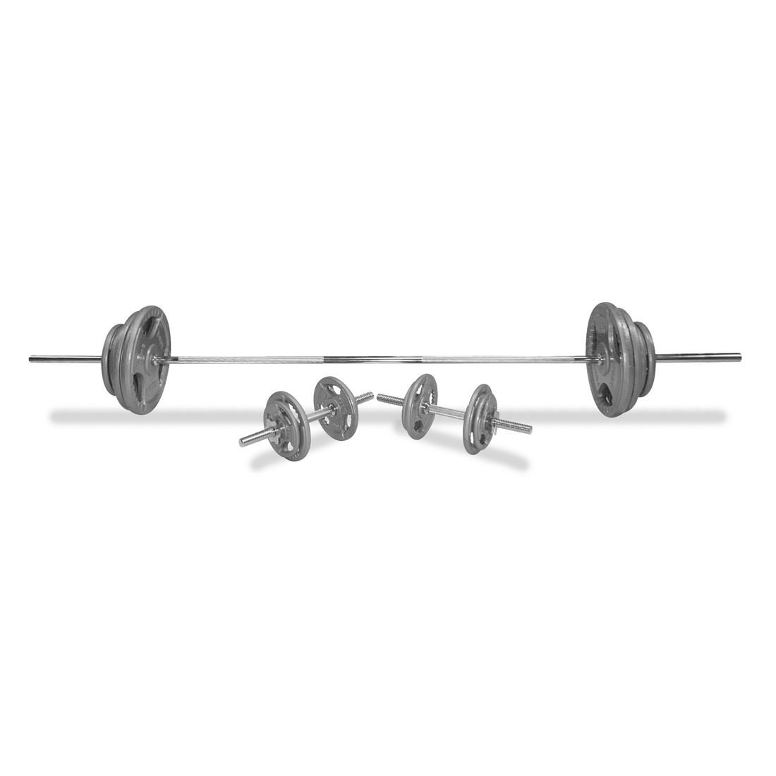 Body Power 102Kg 7FT Tri-Grip Combi Standard Weight Set
