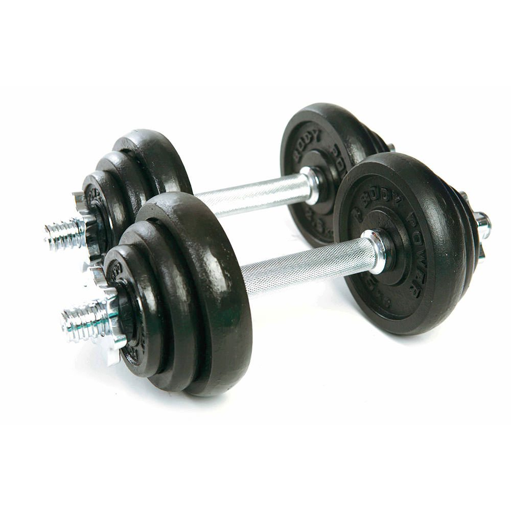 Body Power 20Kg Spinlock Dumbbells Weight Set