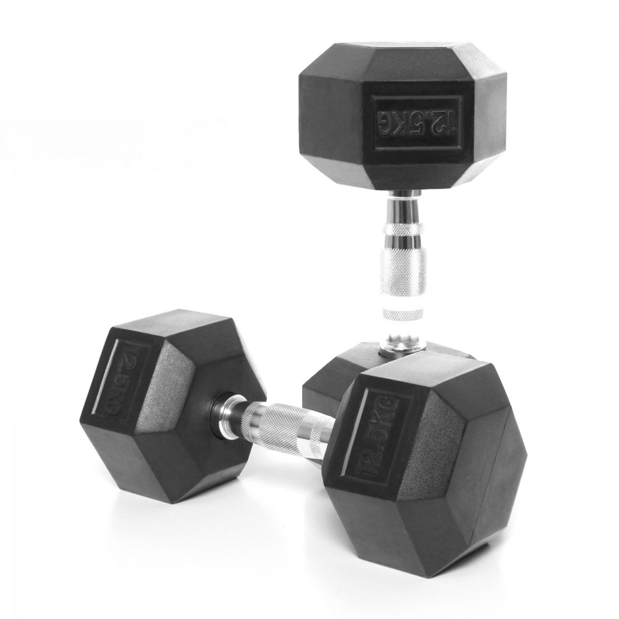 Body Power 12.5Kg Rubber Hex Dumbbells (x2)