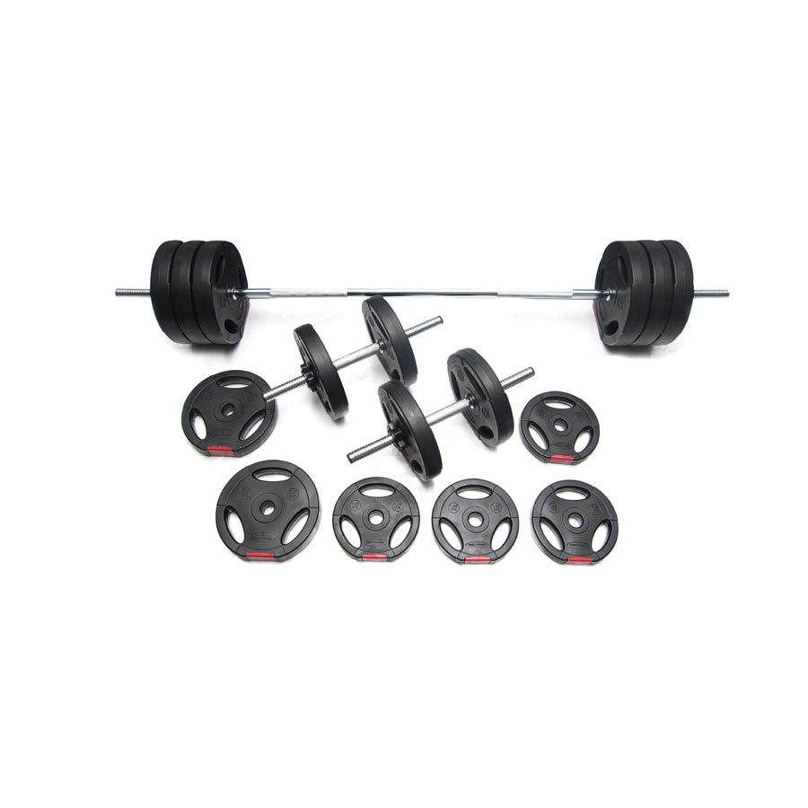 Body Power 52kg Tri-Grip Vinyl Weight Set