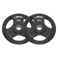 Body Power Rubber Enc Tri Grip STANDARD Weight Disc Plates - 2.5Kg (x2)