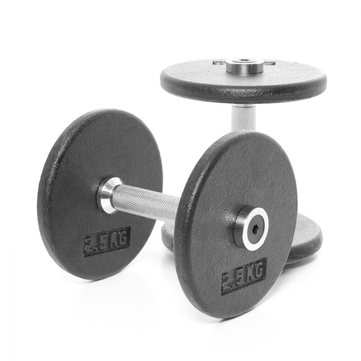Body Power Pro-style Dumbbells 5kg (x2)