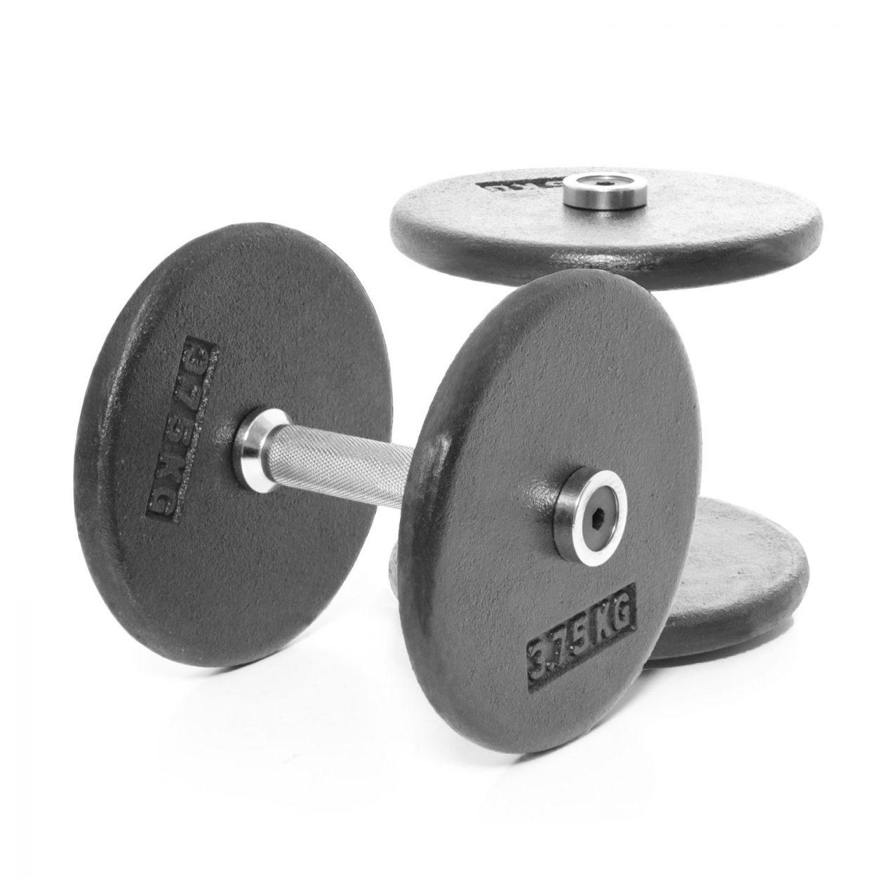 Body Power Pro-style Dumbbells 7.5kg (x2)