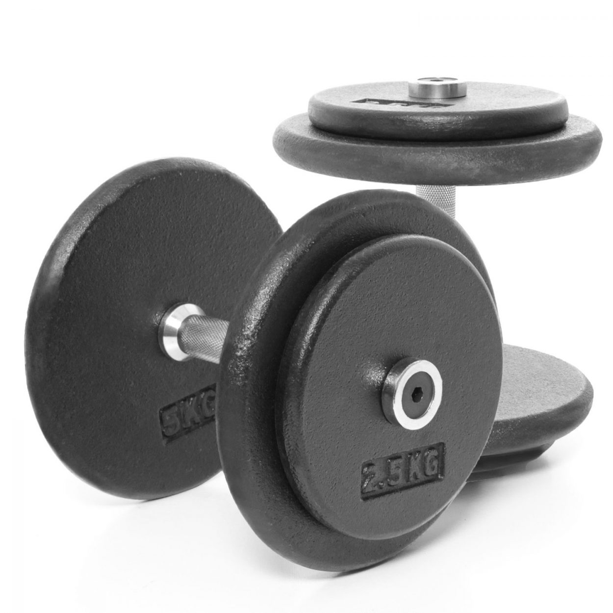 York Chrome Dumbbell Set 15kg: Body Power Pro-style Dumbbells 15kg (x2)