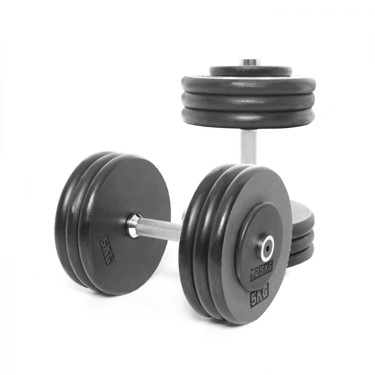 Body Power Pro-style Dumbbells 32.5kg (x2)