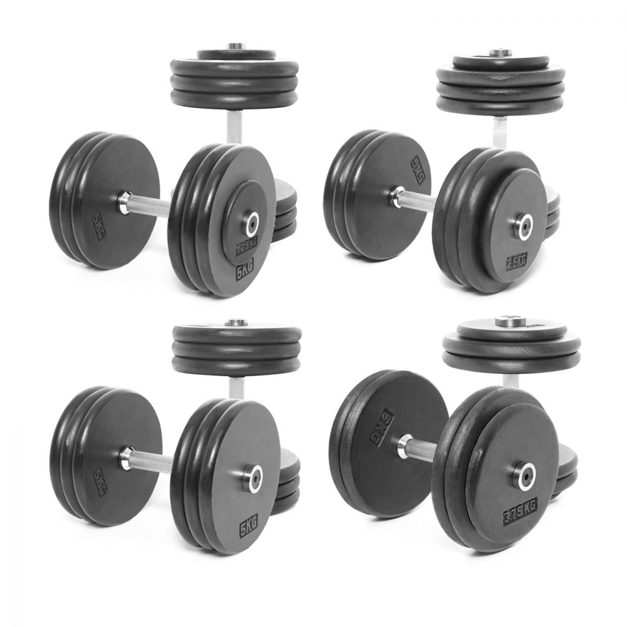 Body Power Pro-style Dumbbells Weight Set B: 27.5-35kg (4 Pairs)