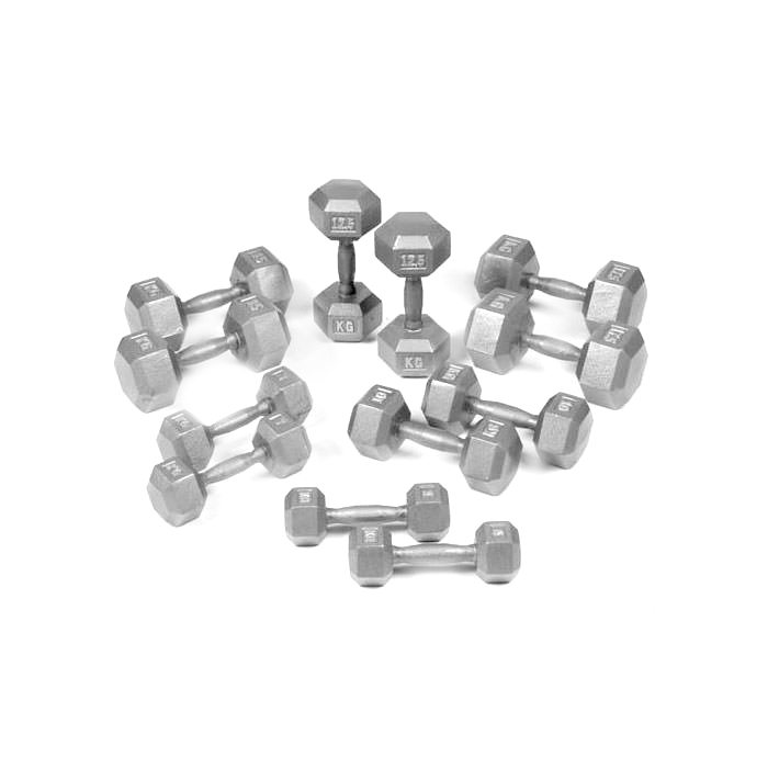 Hex Dumbbell Set by Body Power 5 – 17.5kg (6 Pairs)