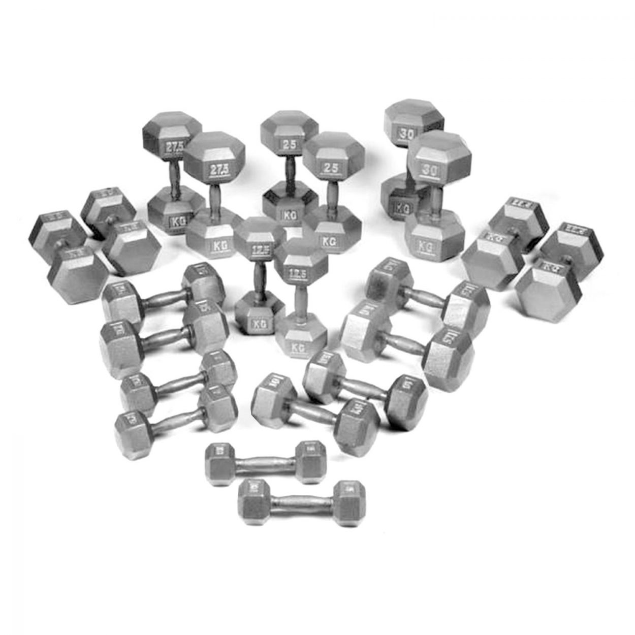 Hex Dumbbell Set by Body Power 5 – 30Kg (11 Pairs)