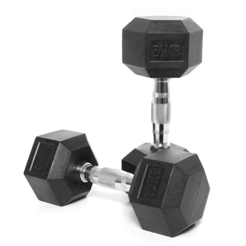 Body Power Rubber Hex Ergo Dumbbells (1 kg – 50 kg)