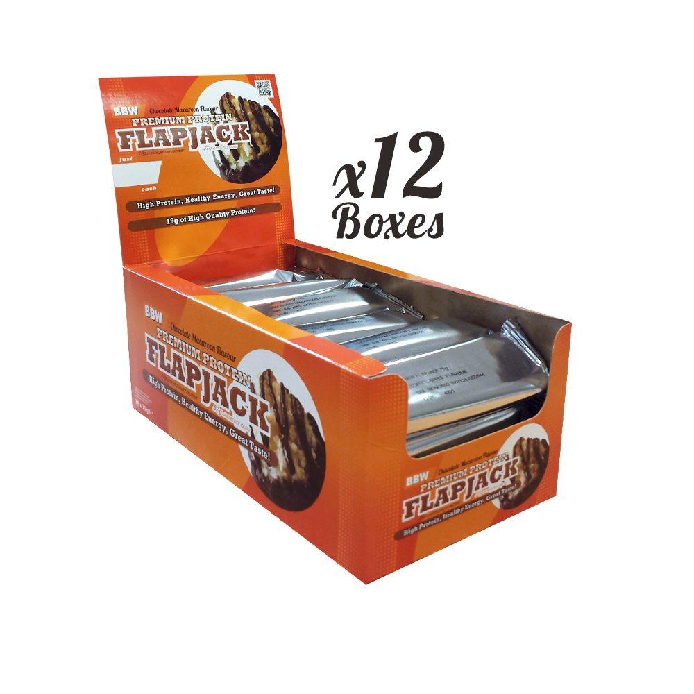 Bodybuilding Warehouse Premium Protein Flapjacks x 12 Boxes (1 Case)