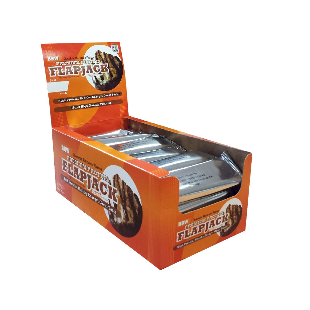 Bodybuilding Warehouse Premium Protein Flapjacks x 24 Bars