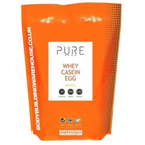 Bodybuilding Warehouse Pure Whey Casein and Egg Protein - 1kg