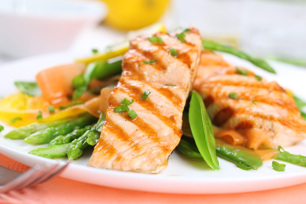 Oily fish salmon