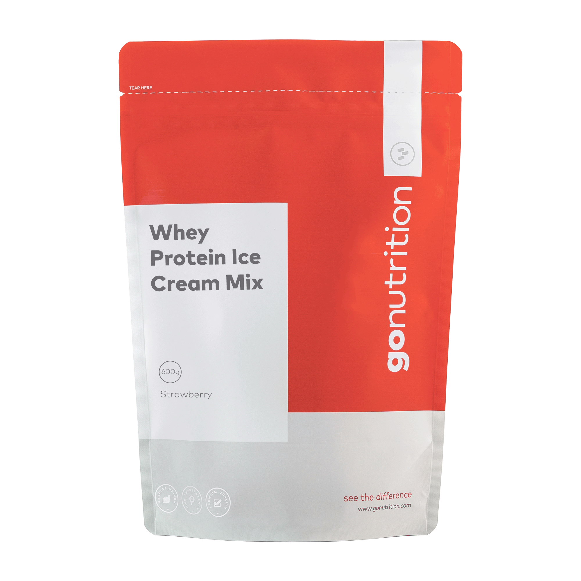 GoNutrition Whey Protein Ice Cream Mix - 600g
