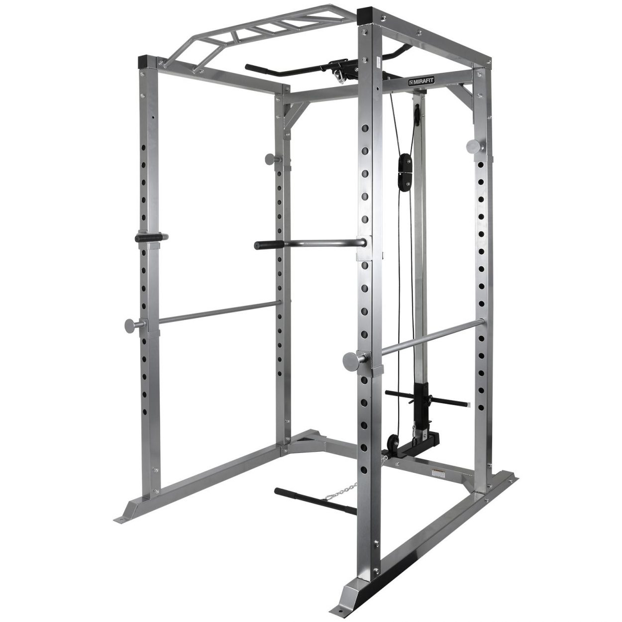 Mirafit M2 350kg Power Rack with Cable System – Silver