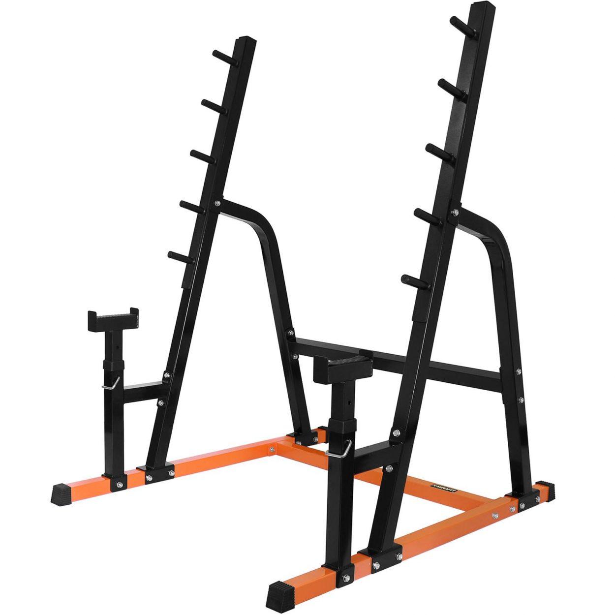 Mirafit M1 Multi Use Weight Lifting Rack – Black/Orange