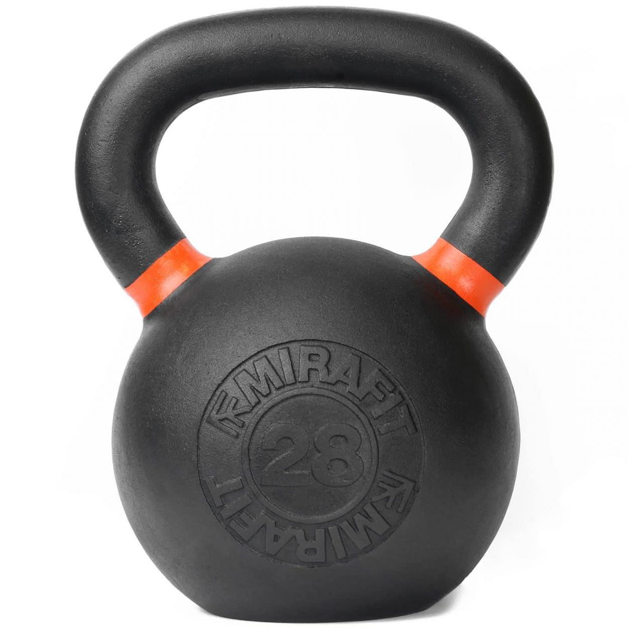 Mirafit Cast Iron Kettlebell – 28kg