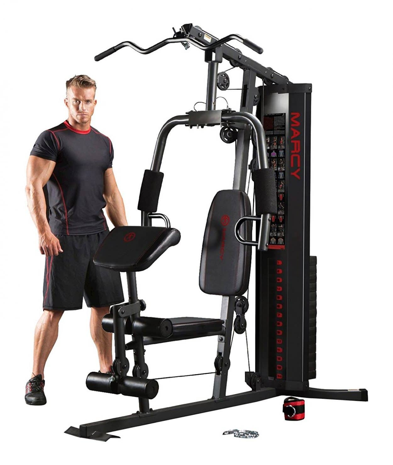 Marcy Eclipse HG3000 Compact Home Gym with Weight Stack - 68kg