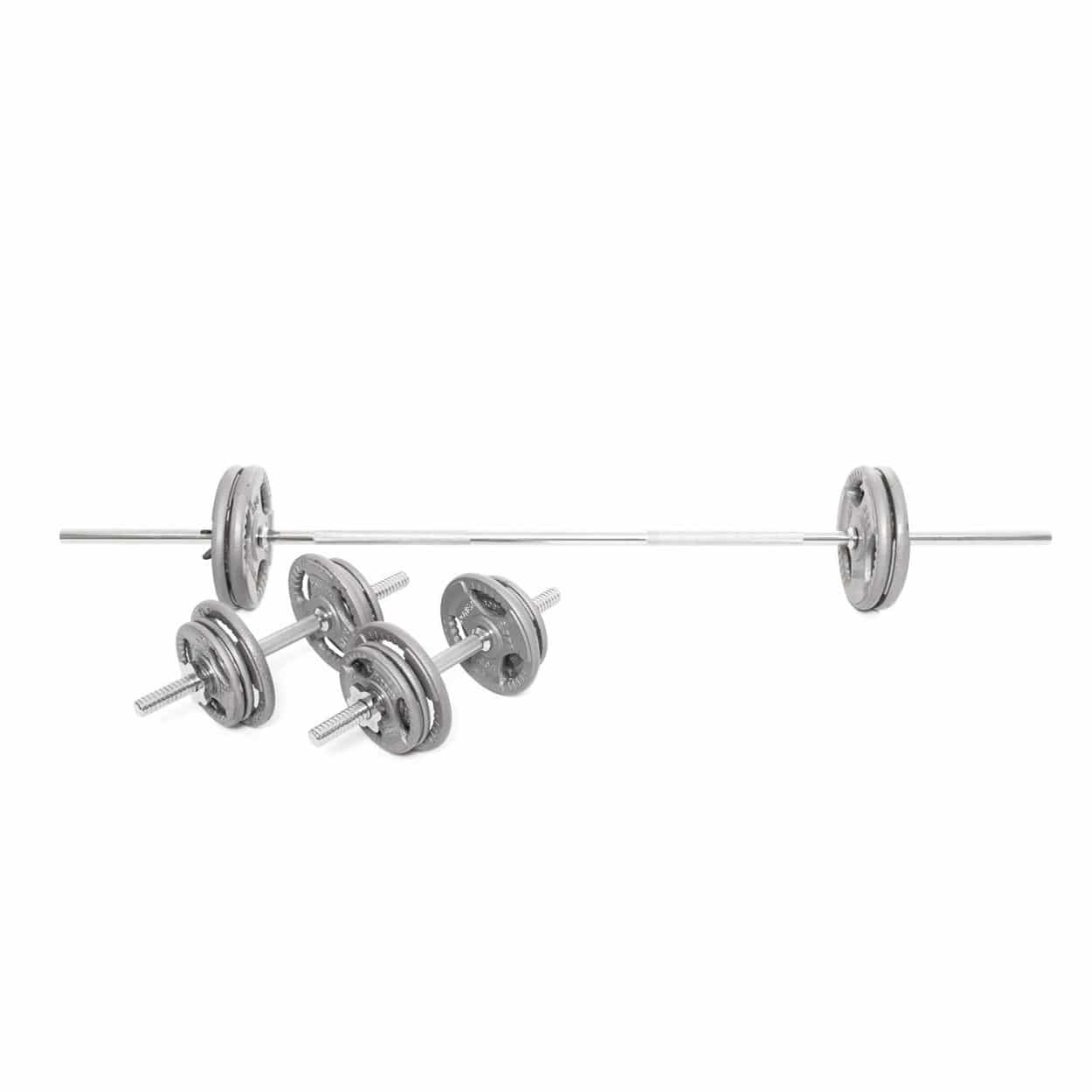 Body Power 6ft Tri-Grip Weight Set