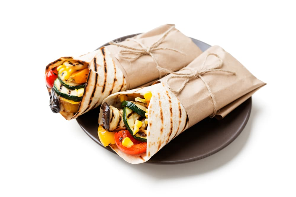 Wholewheat Pitta with Grilled Vegetables