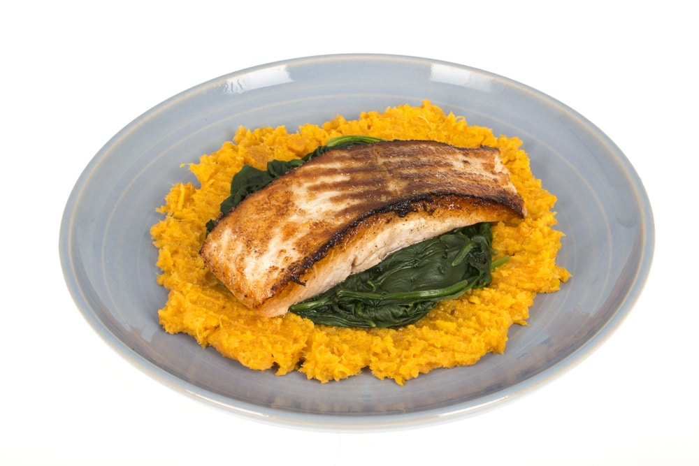 Baked Salmon and Sweet Potatoes
