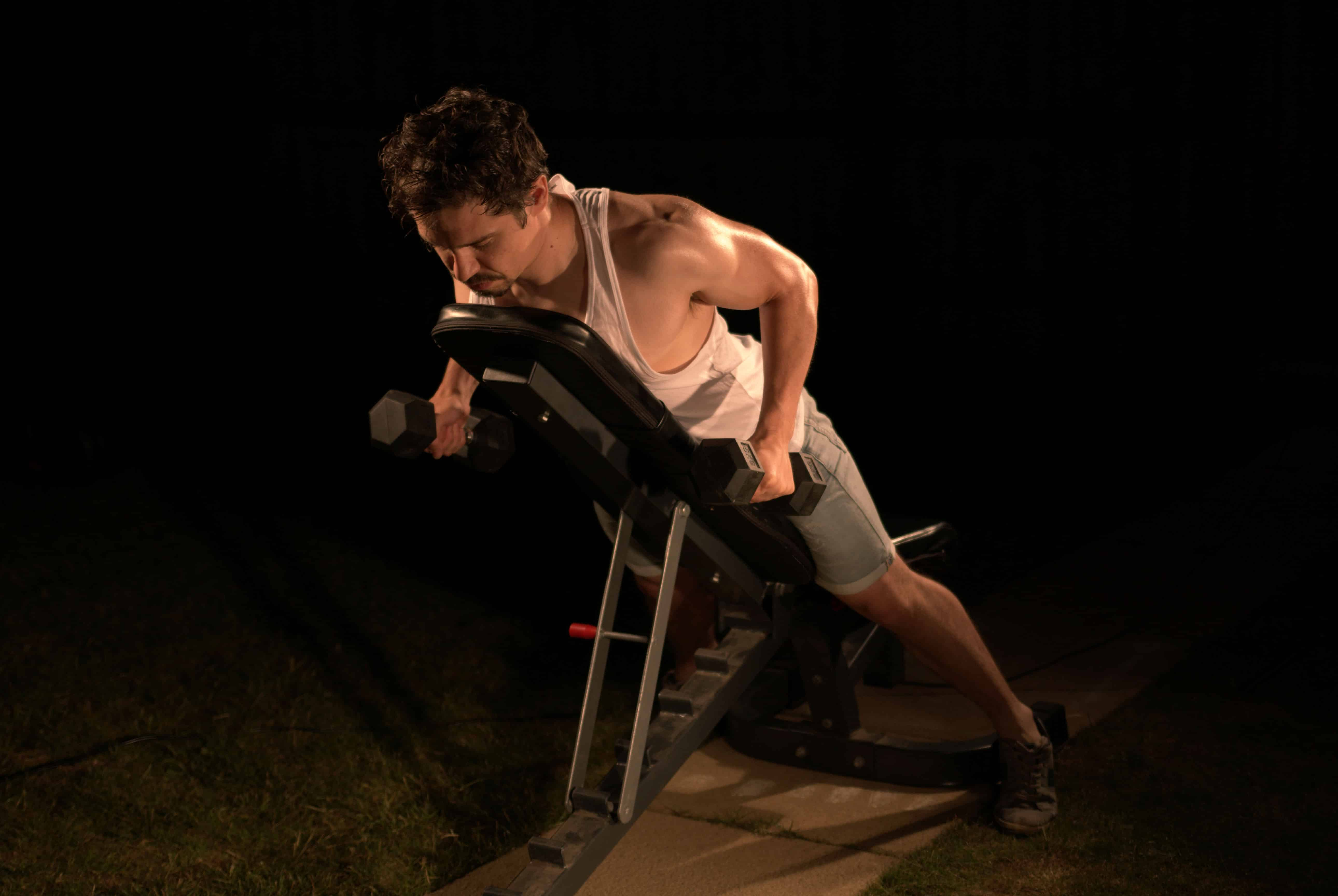 How to do an incline dumbbell row