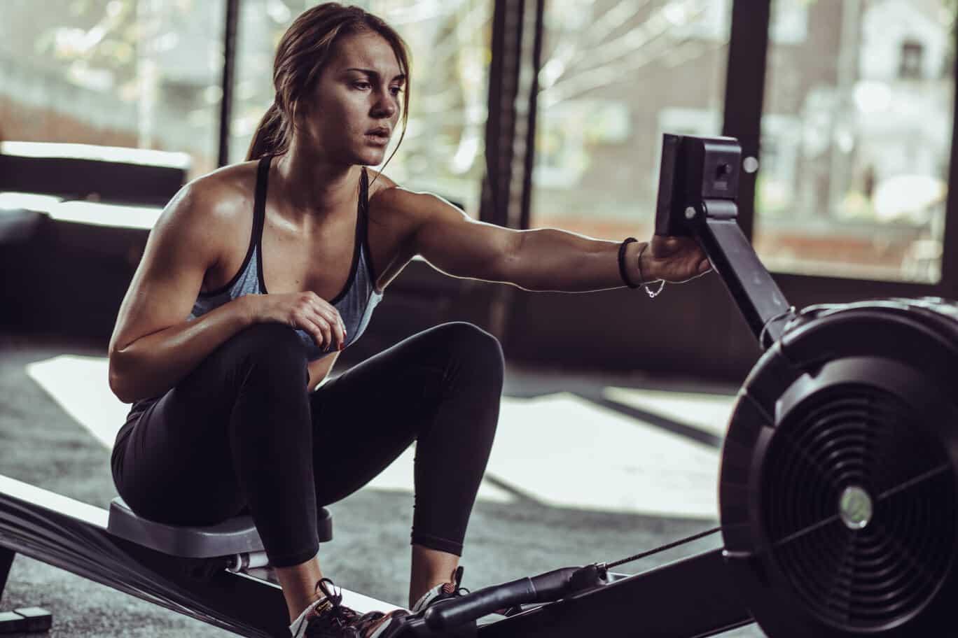 Rowing Machine Woman